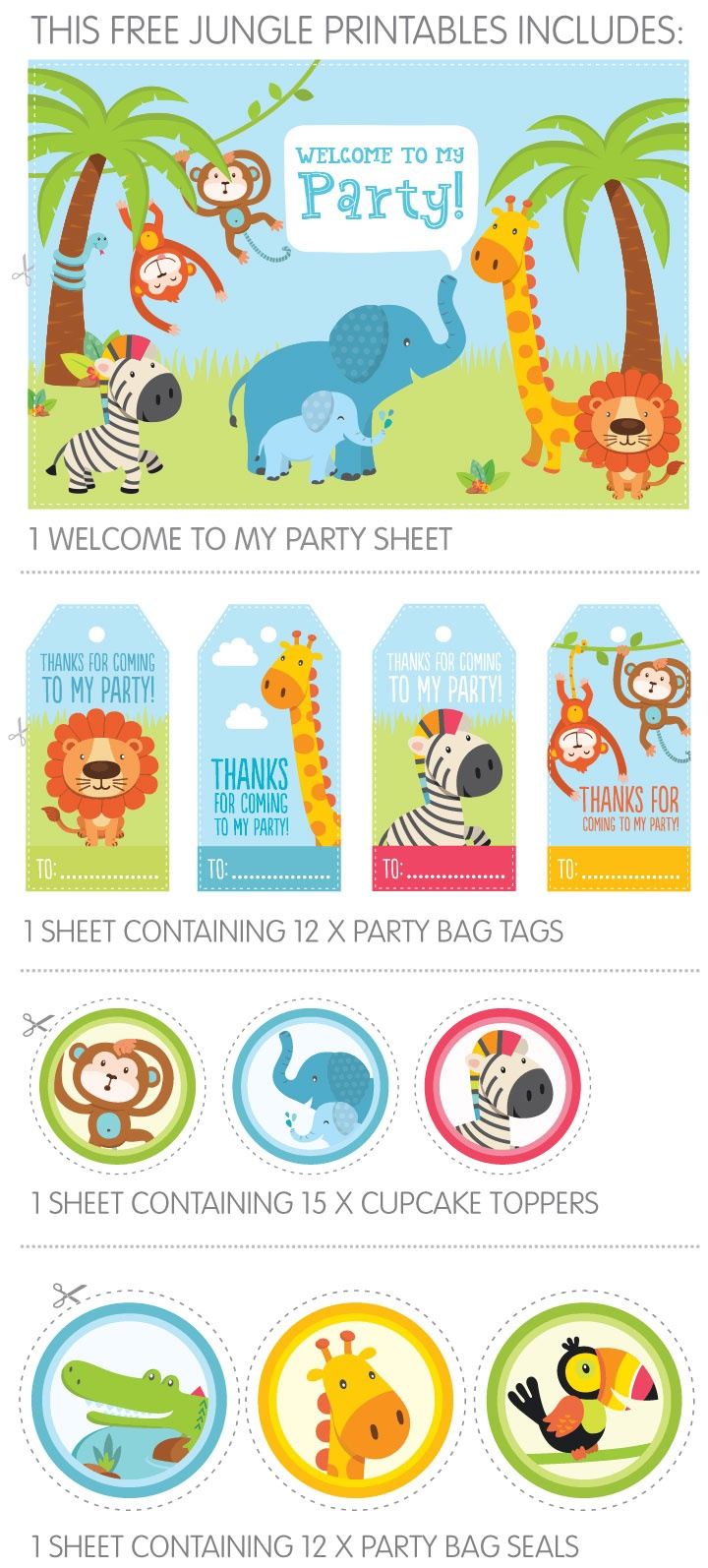 Free Jungle Party Invitation Printables - Free Party Printables