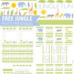 Free Jungle Party Printables From Printabelle | Catch My Party   Free Party Printables