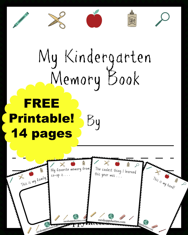 Free Kindergarten Memory Book (Homeschool Edition | Best Of Mrs - Free Printable Memory Book Templates