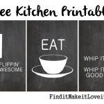 Free Kitchen Printables   Find It, Make It, Love It   Free Kitchen Printables