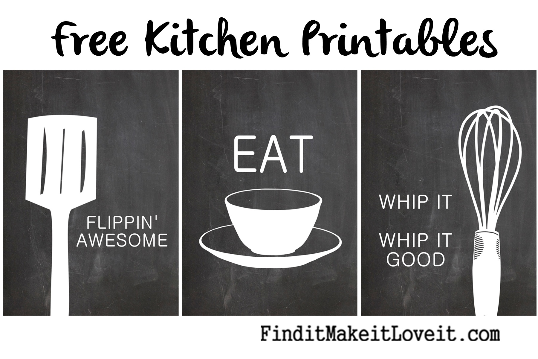Free Kitchen Printables - Find It, Make It, Love It - Free Kitchen Printables