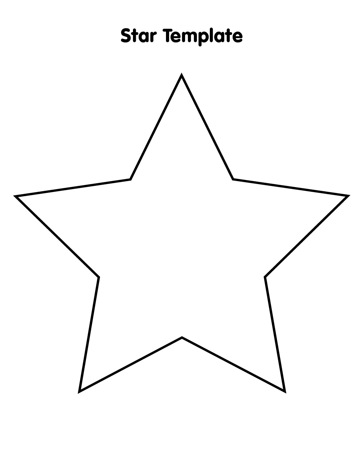 Free Large Star Template To Print, Download Free Clip Art, Free Clip - Star Template Free Printable