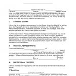 "Free Last Will And Testament Templates   A ""Will""   Pdf 