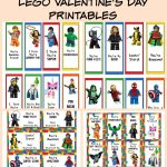 Free Lego Valentine's Day Cards & Bookmarks Printable | Valentine's   Free Printable Ninjago Valentine Cards