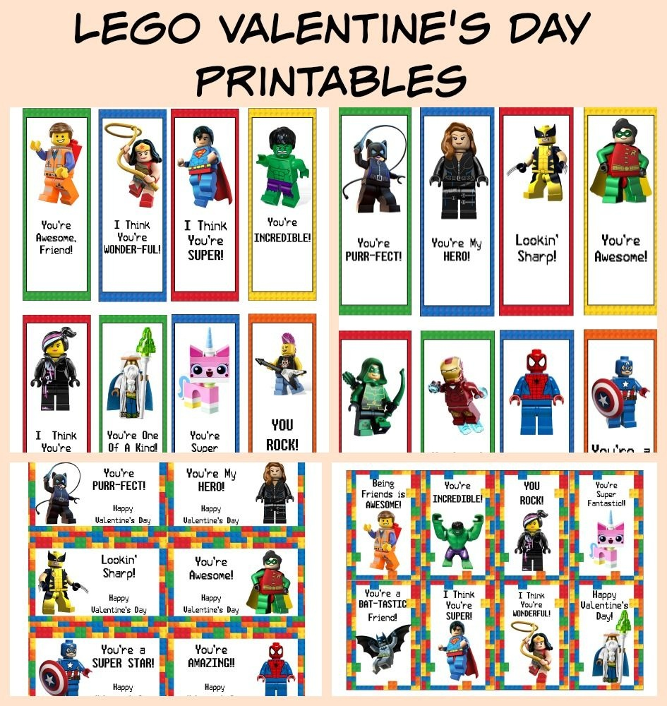 Free Lego Valentine's Day Cards & Bookmarks Printable | Valentine's - Free Printable Ninjago Valentine Cards
