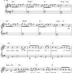 Free Let It Go Easy Version Frozen Theme Sheet Music Preview 1   Frozen Piano Sheet Music Free Printable