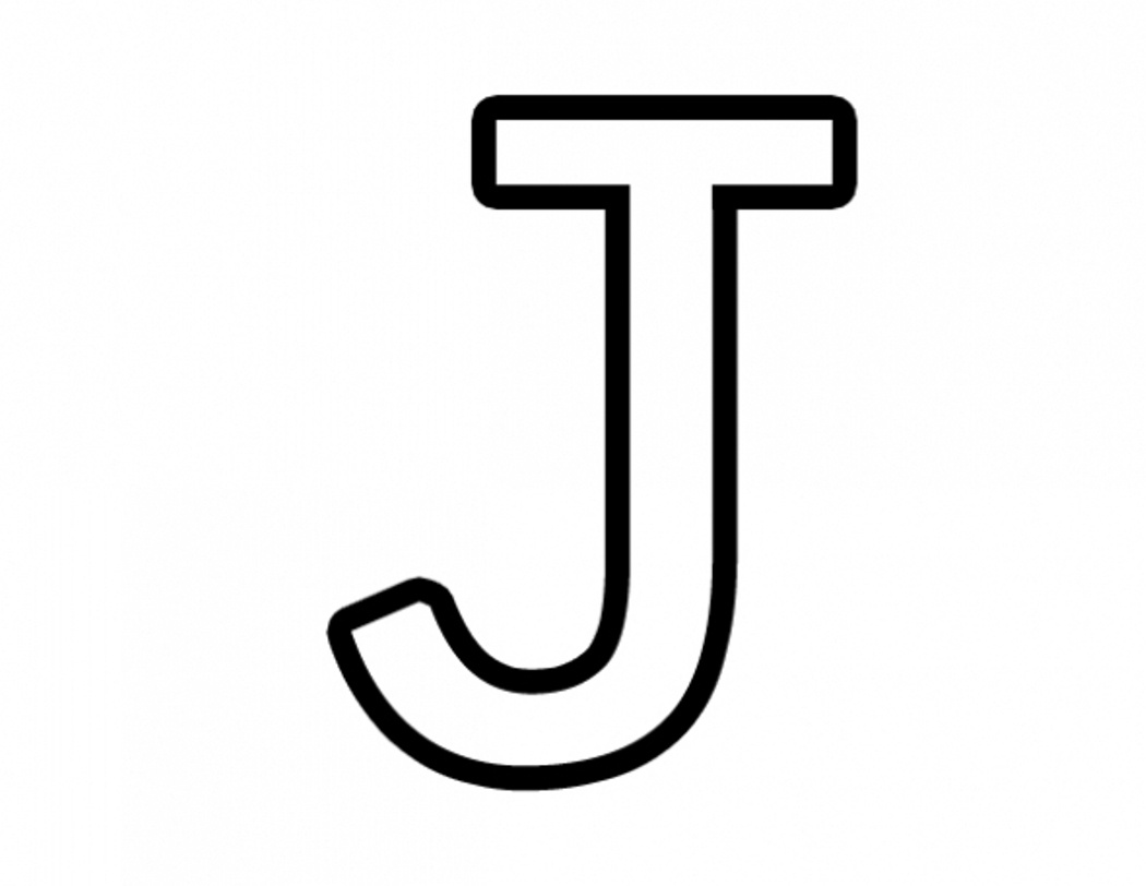 Free Letter J, Download Free Clip Art, Free Clip Art On Clipart Library - Free Printable Letter J
