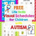 Free Life Skills Printable – Little Puddins Free Printables   Free Printable Visual Schedule For Classroom