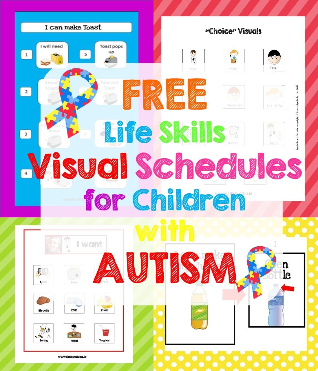 Free Life Skills Printable – Little Puddins Free Printables - Free Printable Visual Schedule For Classroom