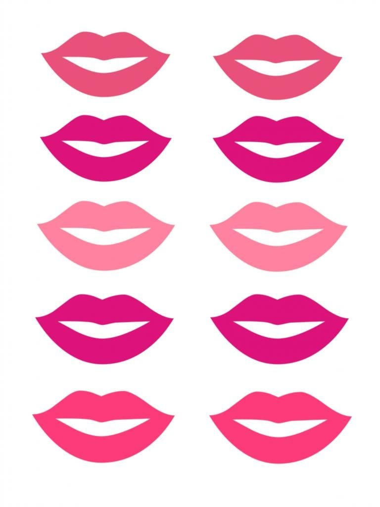 Free Lip And Mustache Printables: Photo Booth Props | Diy | Photo - Free Lip And Mustache Printables