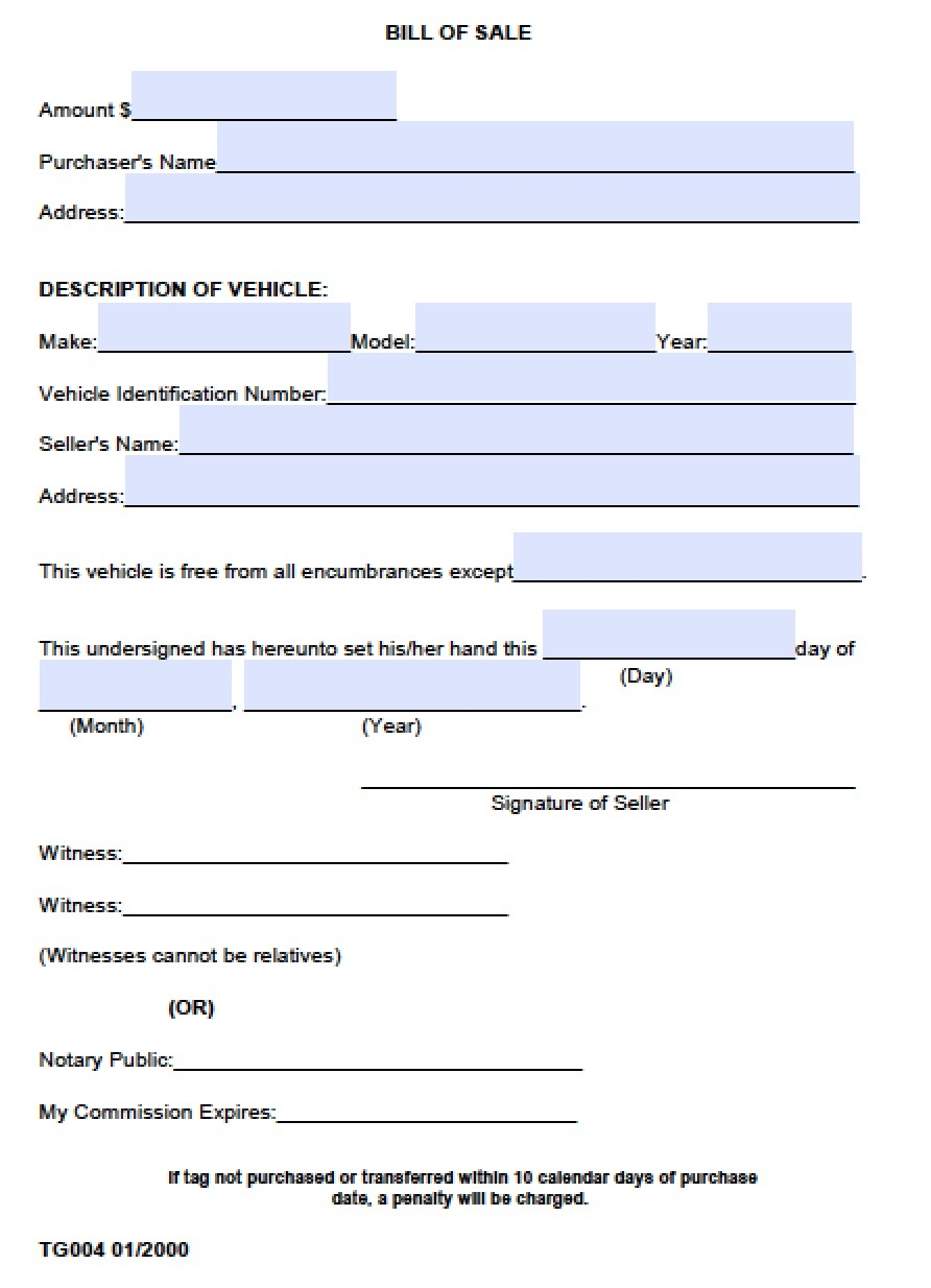 Free Madison County, Alabama Bill Of Sale Form | Pdf | Word (.doc) - Free Printable Bill Of Sale For Vehicle In Alabama