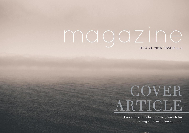 Free Magazine Templates + Magazine Cover Designs - Book Cover Maker Free Printable
