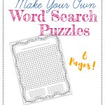 """Free """"make Your Own"""" Printable Wordsearch Puzzles – The Frugal   Free Printable Make Your Own Word Search"""