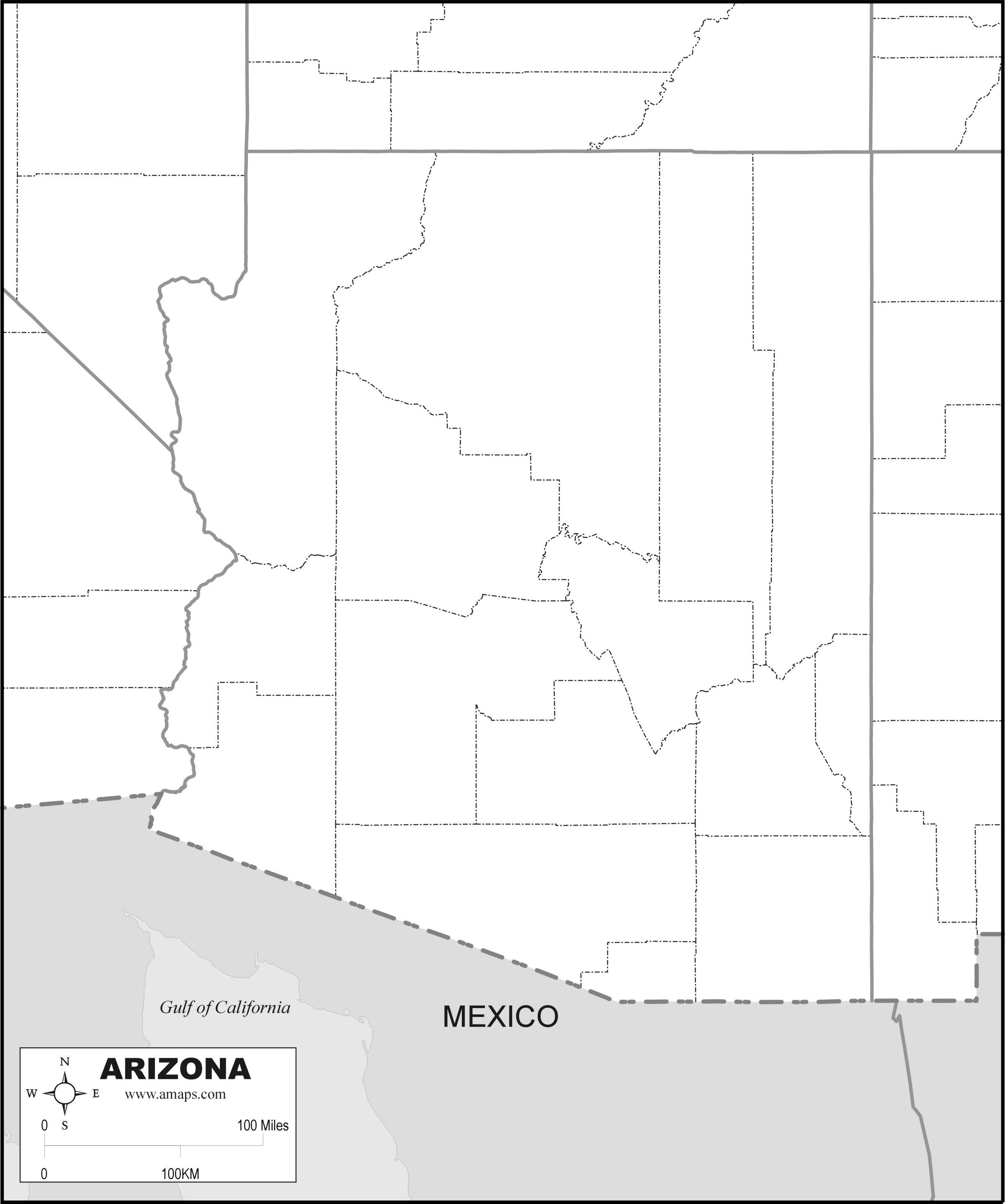 Free Map Of Arizona - Free Printable Map Of Arizona