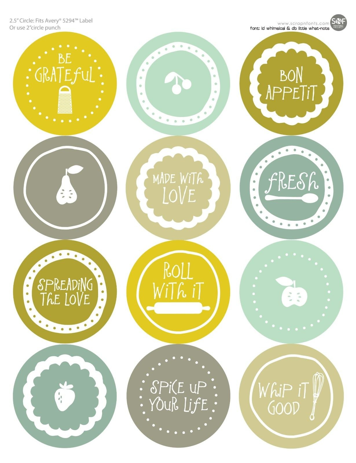 Free Mason Jar Labels To Print | All Wrapped Up | Jar Labels, Mason - Free Printable Mason Jar Labels