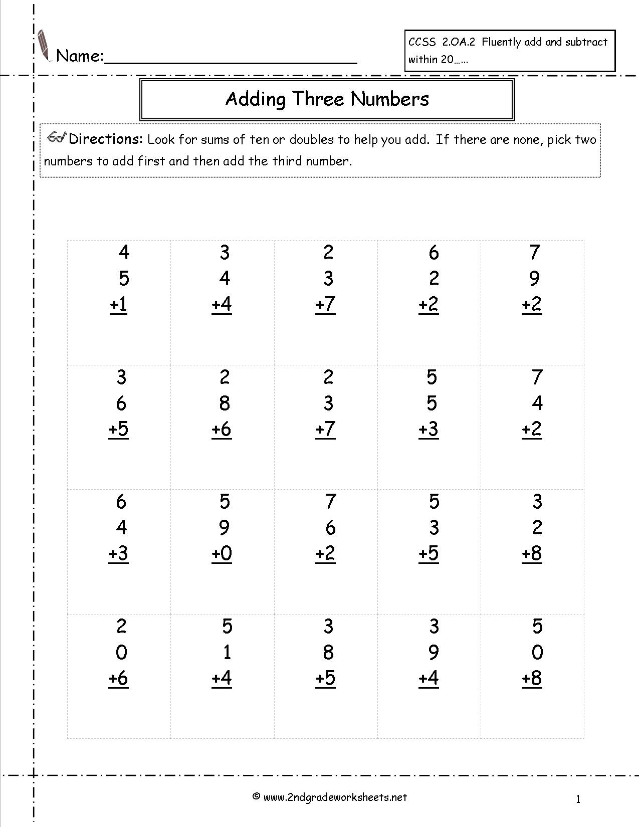 Free Math Worksheets And Printouts - Free Math Printables For 2Nd Grade