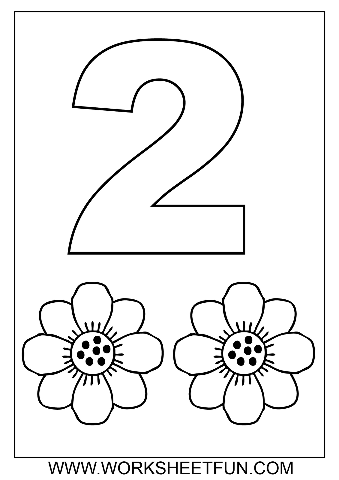 Free Math Worksheets-Number Coloring | Number | Numbers Preschool - Free Preschool Coloring Sheets Printables