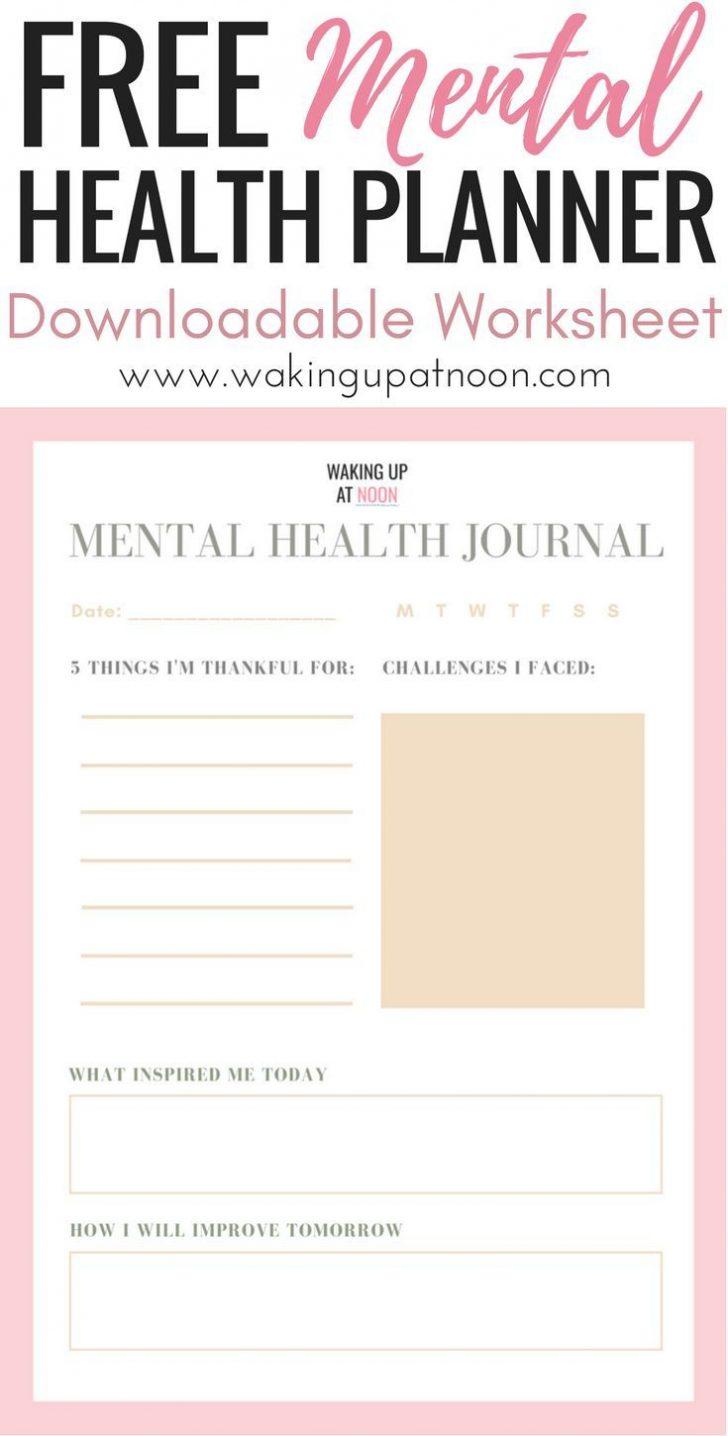 Free Printable Mental Health Worksheets