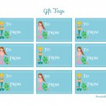 Free Mermaid Birthday Party Printables From Printabelle | Catch My Party   Free Printable Mermaid Tags