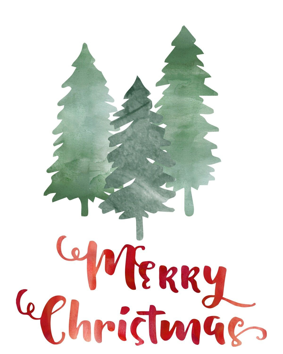 "Free ""merry Christmas"" Printable At Thedomesticheart - Free Christmas Printables"
