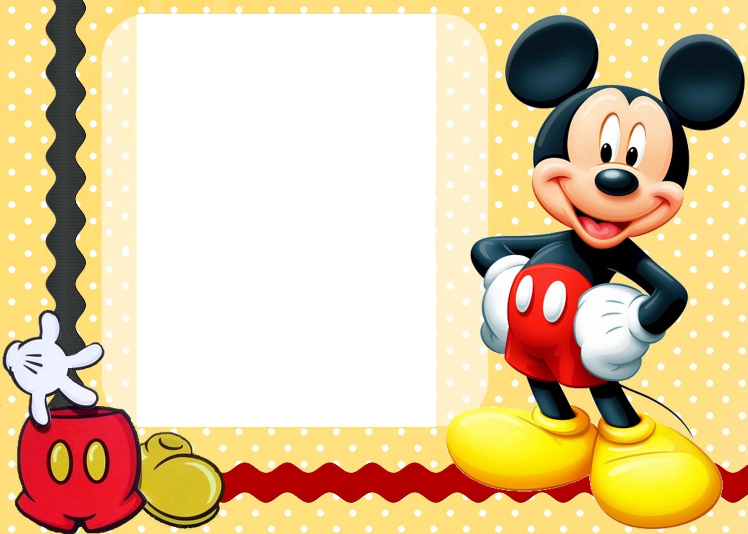 Free Mickey Mouse Template, Download Free Clip Art, Free Clip Art On - Free Printable Mickey Mouse Invitations