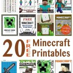 Free Minecraft Learning Resources (20+) | Homeschooling | Minecraft   Free Minecraft Printables