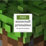 Free Minecraft Printables For Parties And Play – Coloradomoms   Free Minecraft Printables