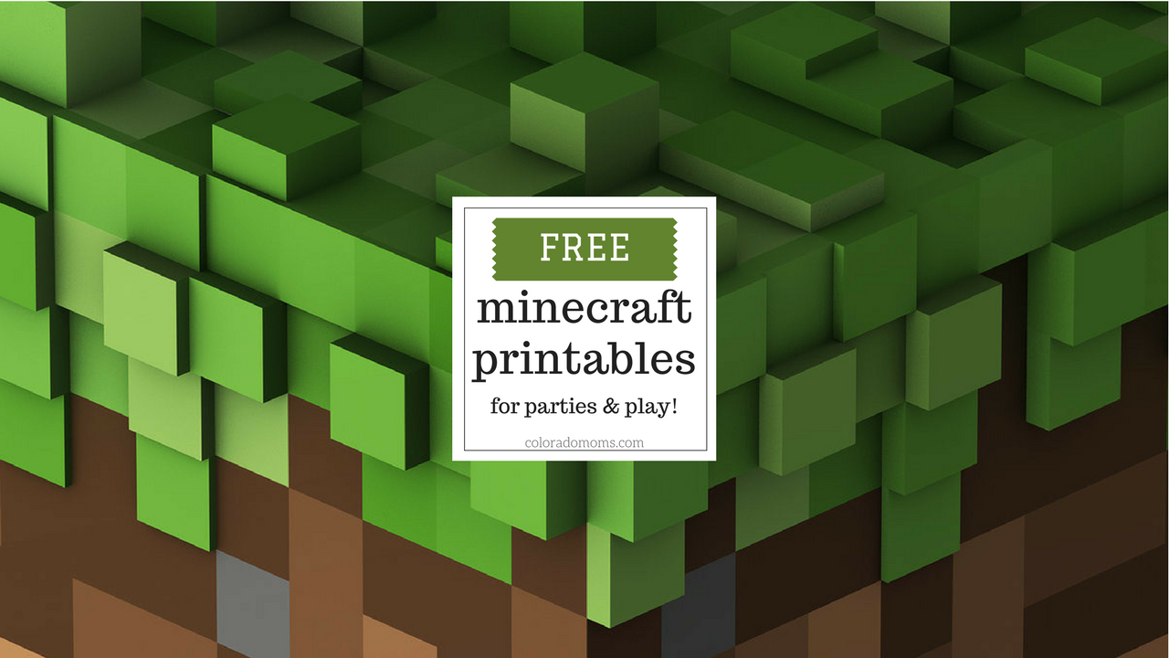 Free Minecraft Printables For Parties And Play – Coloradomoms - Free Minecraft Printables