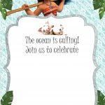 Free Moana Birthday Invitation Template | Moana / Luau Themed   Free Printable Moana Birthday Invitations