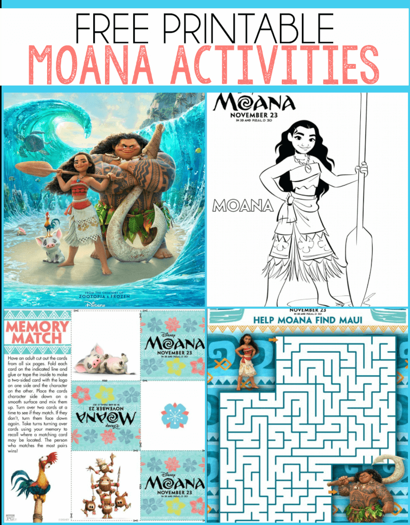 Free Moana Printables - Coloring Pages, Party Printables, And More - Moana Free Printables