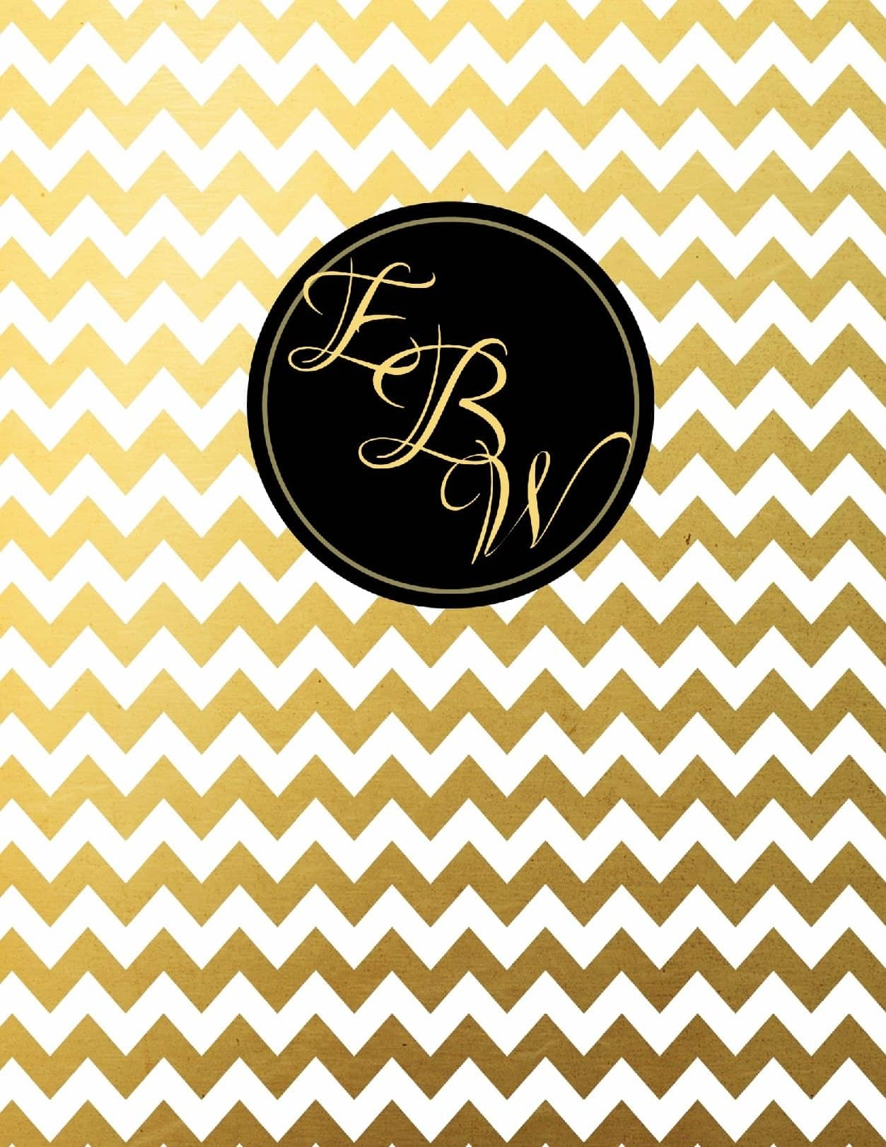 Free Monogram Binder Cover - Free Printable Monogram Binder Covers