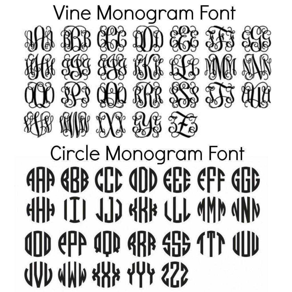Free Monogram Fonts For Personalizing School Supplies | Collegiate - Free Printable Monogram Initials
