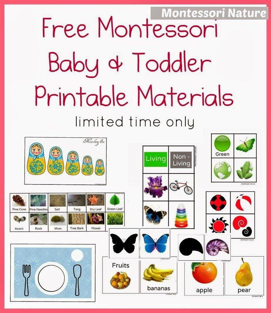 Free Montessori Baby & Toddler Printable Materials | Montessori - Free Montessori Printables