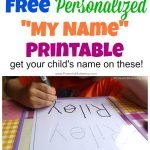 Free Name Tracing Worksheet Printable + Font Choices   Free Printable Name Tracing