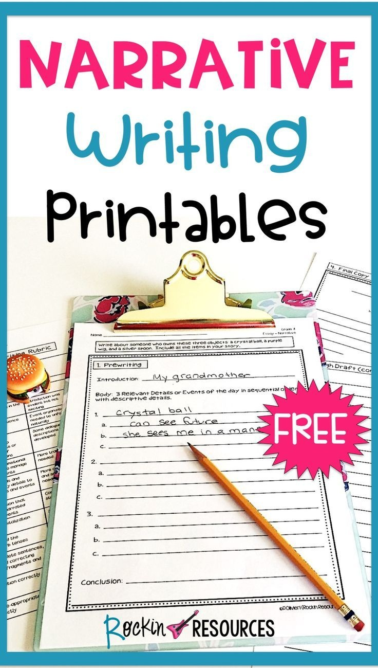 Free Narrative Writing Prompt For Paragraph And Essay | Grades 3-6 - Free Printable Writing Prompts For Middle School