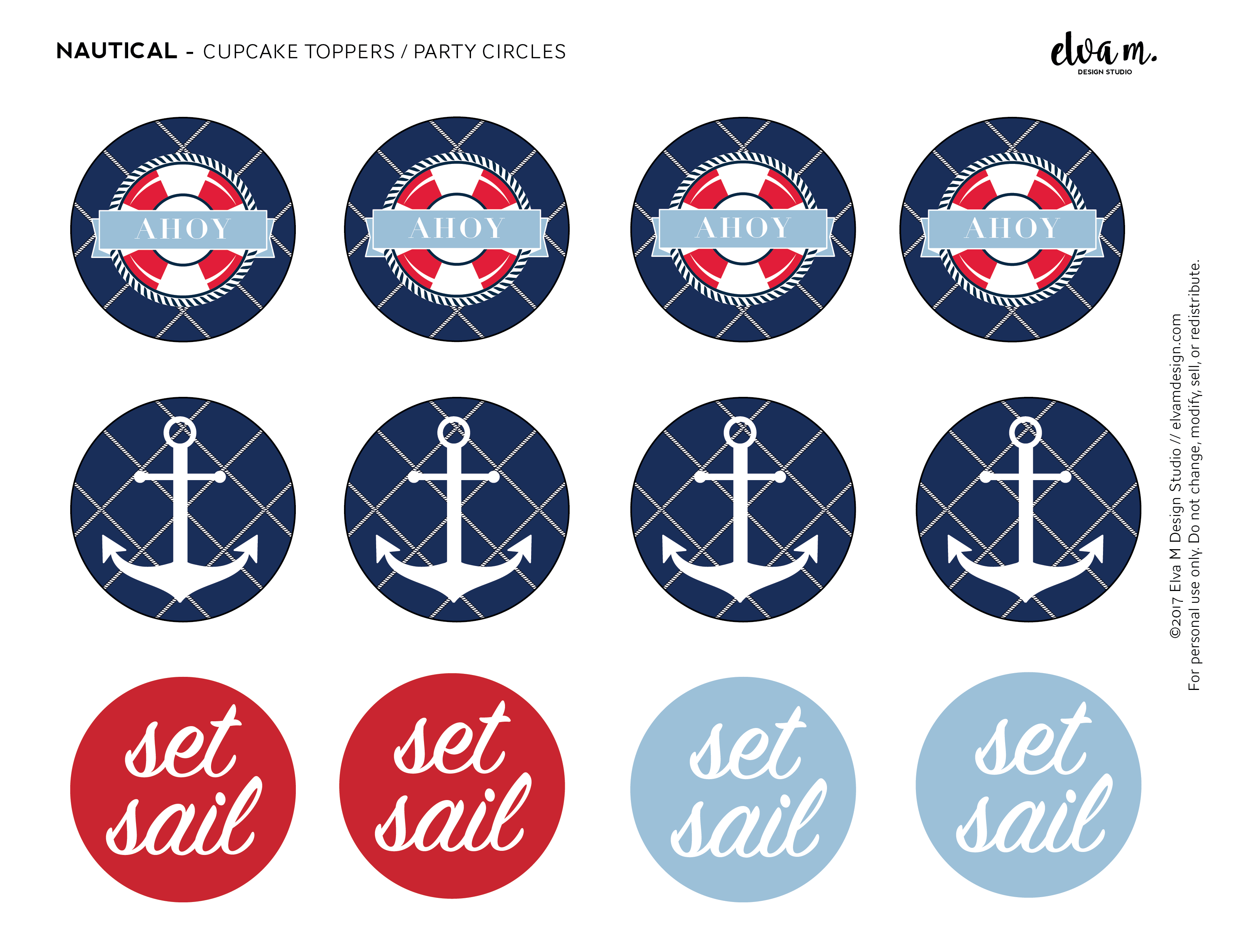 Free Nautical Birthday And Baby Shower Party Printables | Catch My Party - Free Nautical Printables
