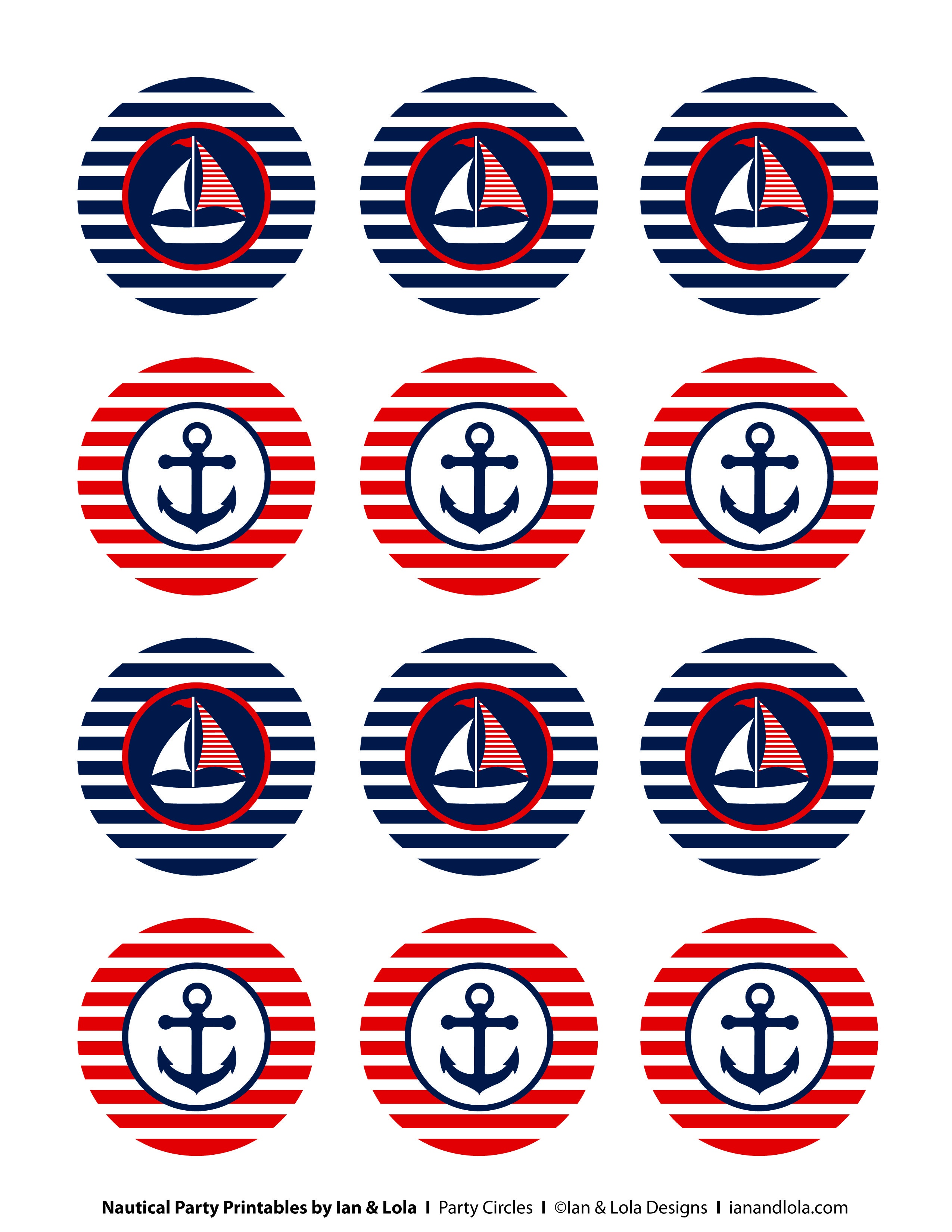 Free Nautical Party Printables From Ian & Lola Designs | Birthday - Free Nautical Printables