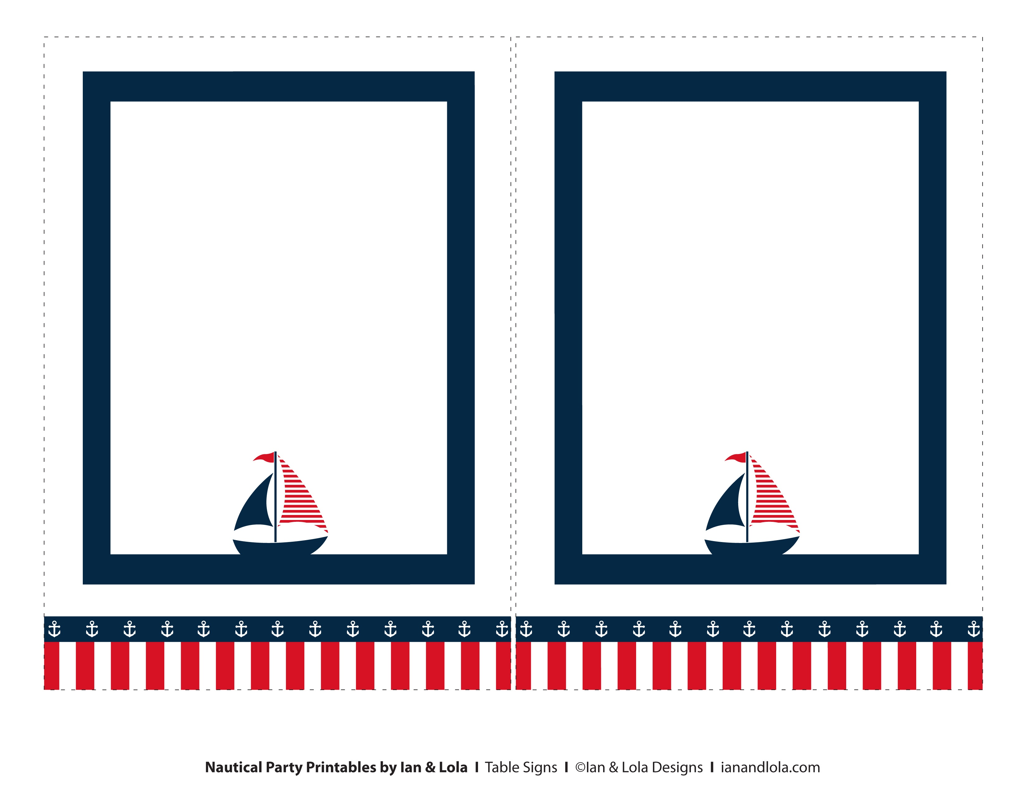 Free Nautical Party Printables From Ian & Lola Designs | Catch My Party - Free Nautical Printables