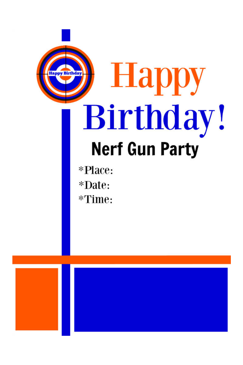Free Nerf Printables (78+ Images In Collection) Page 2 - Free Printable Nerf