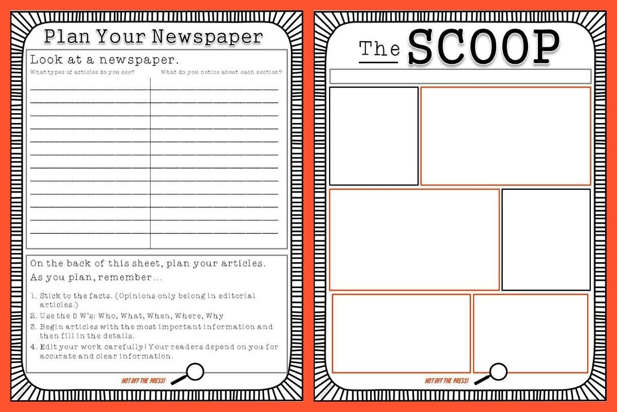 Free Newspaper Template For Kids Printable | School Ideas - Free Printable Newspaper Templates For Students