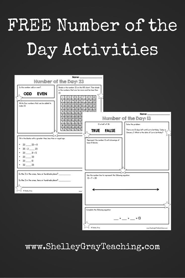 Free Number Sense Activities | Classroom. | Teaching Math - Free Printable Daily Math Warm Ups