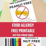 Free Nut Free Classroom And Nut Free School Signs. Free Printable   Printable Nut Free Signs