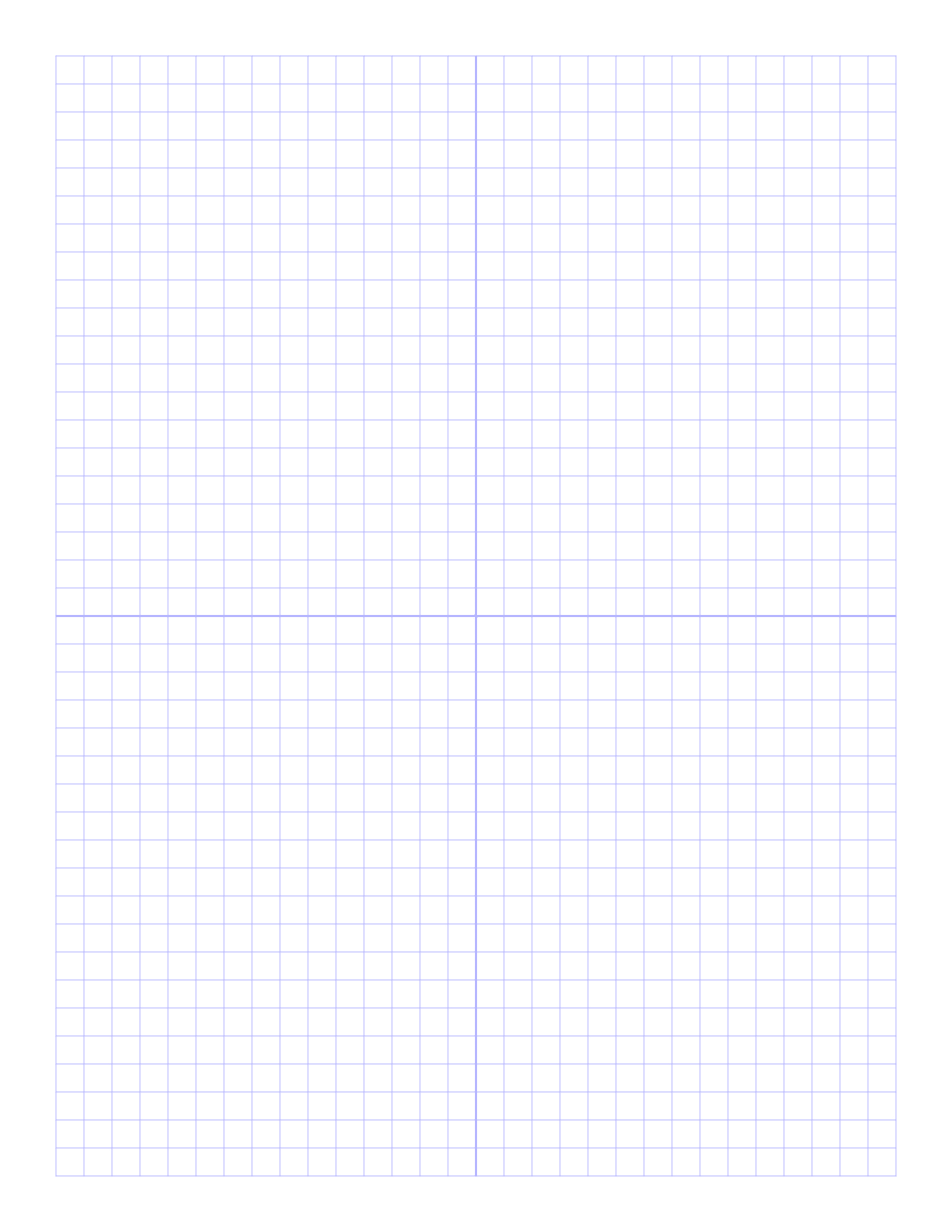 Free Online Graph Paper / Plain - One Inch Graph Paper Free Printable