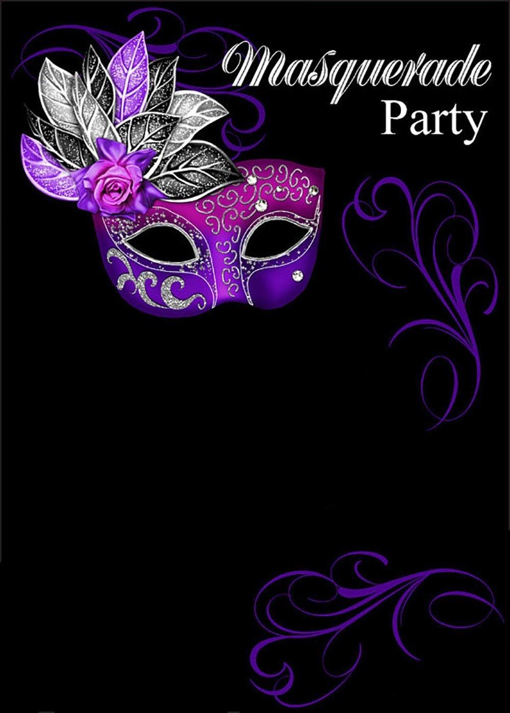 Free Online Masquerade Invitation | Invitations Online - Free Online Printable Invitations