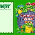 Free Online Ninja Turtle Invitation | Coolest Invitation Templates   Free Printable Tmnt Birthday Invitation Template