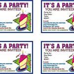 Free Online Printable Birthday Party Invitations   Lazine   Free Online Printable Birthday Cards