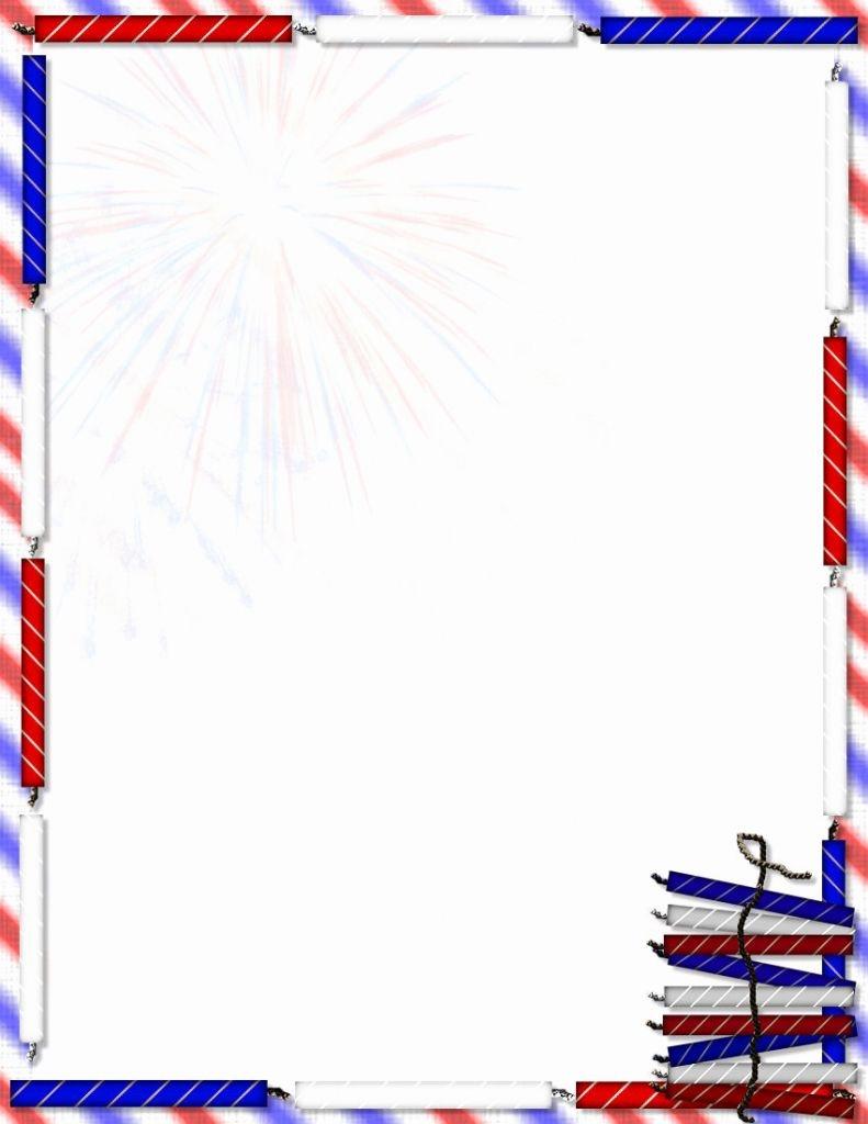 Free Patriotic Letterhead Templates Us Flag Stationary Letterhead - Free Printable 4Th Of July Stationery