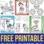 Free Paw Patrol Coloring Pages   Happiness Is Homemade   Paw Patrol Free Printables