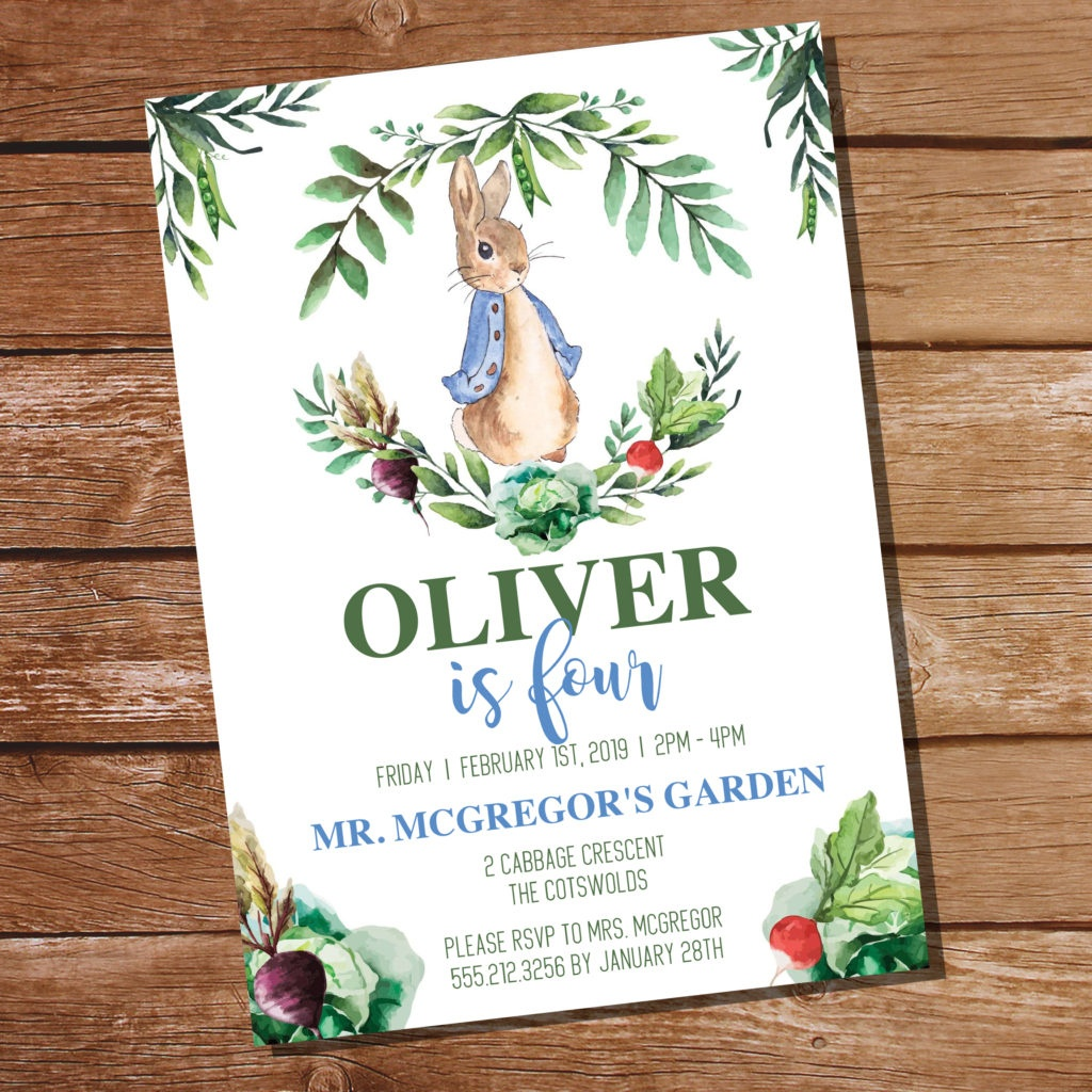 Free Peter Rabbit Party Invitation And Peter Rabbit Party Decor - Free Peter Rabbit Party Printables