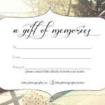 Free Photography Gift Certificate Templatesharetemplatedesigncom   Free Printable Photography Gift Certificate Template